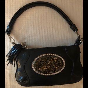 Debbie Brooks Authentic Black Leather Handbag